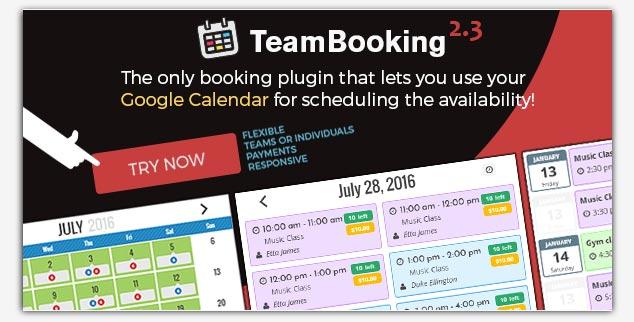 Team Booking WordPress Rezervasyon Eklentisi
