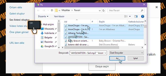 WordPress Müzik Listesi Ekleme - Dosya Seçimi