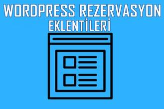 Wordpress Rezervasyon Eklentisi - WordPress Rezervasyon Eklentileri