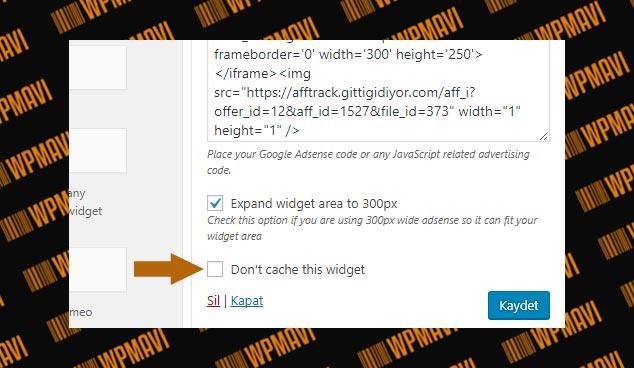 WP Fastest Cache - Widget Cache