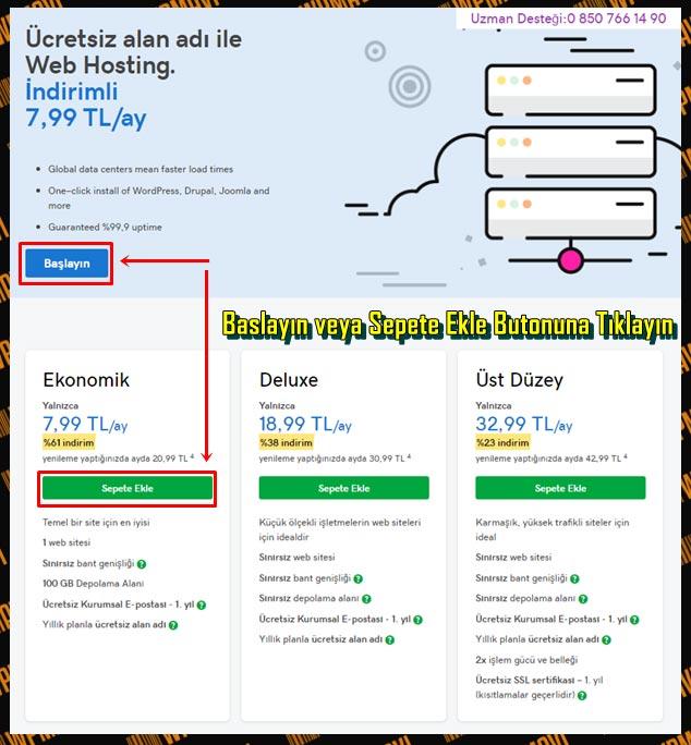 İnternetten Satış Nasıl Yapılır - Hosting Fiyat Tablosu