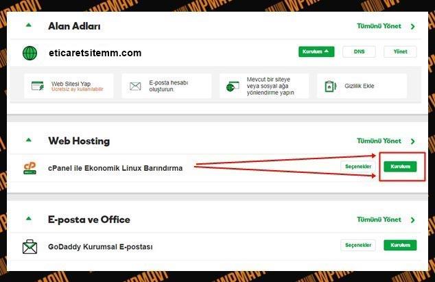 Online Satış Sitesi Kurmak - Hosting Yönetimi