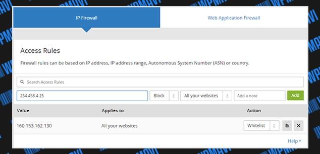 CloudFlare Kullanımı - IP Bloklama
