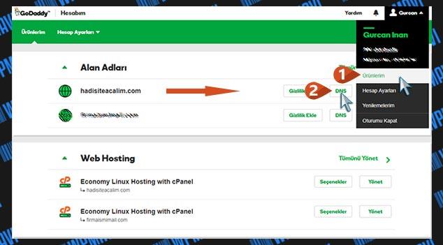 CloudFlare DNS Ayarları - GoDaddy DNS