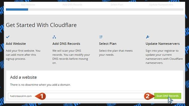 CloudFlare Kurulumu - Site Ekleme