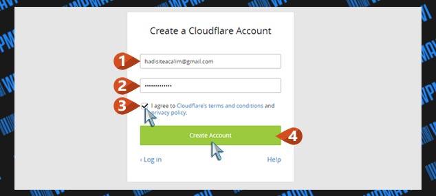 CloudFlare Kurulumu - Üyelik Ekranı