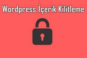 Wordpress Yazı Kilitleme