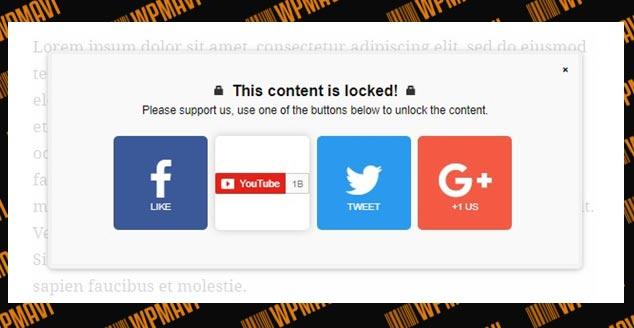 Sosyal Medya Paylaşımı ile WordPress İçerik Kilitleme