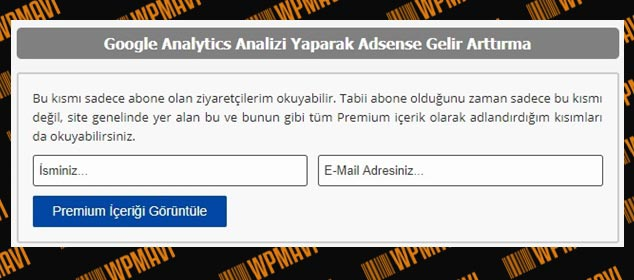 Wordpress Yazı Kilitleme - Opt-In Content Locker