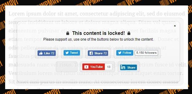 Sosyal Paylaşım Butonları ile WordPress Yazı Kilitleme