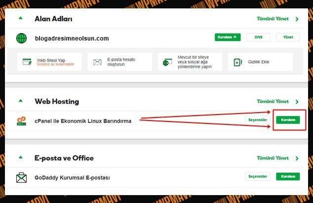 Blog oluşturma için web hosting kurulum - blog nasıl açılır