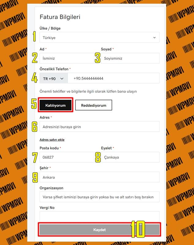 Domain ve hosting nasıl alınır - Fatura ekranı