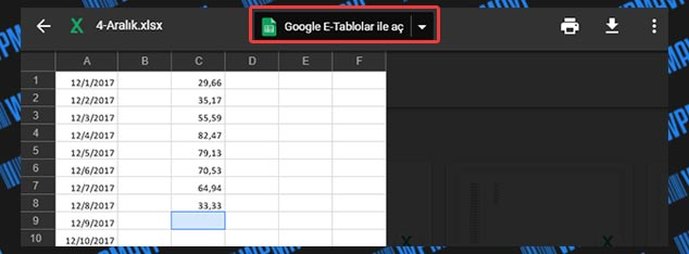 WordPress Excel Tablo Ekleme - Google E-Tablolar ile Aç