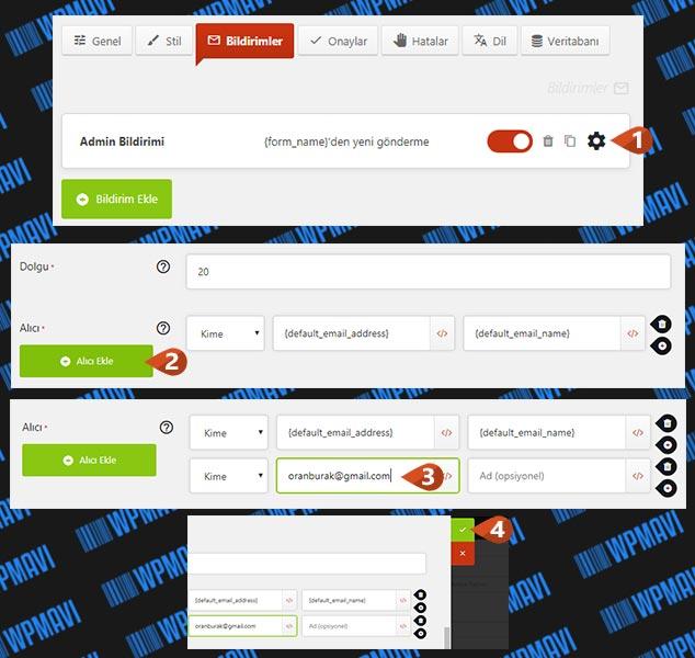 WordPress Form Hazırlama - Birden Çok Alıcı E-Posta Ekleme