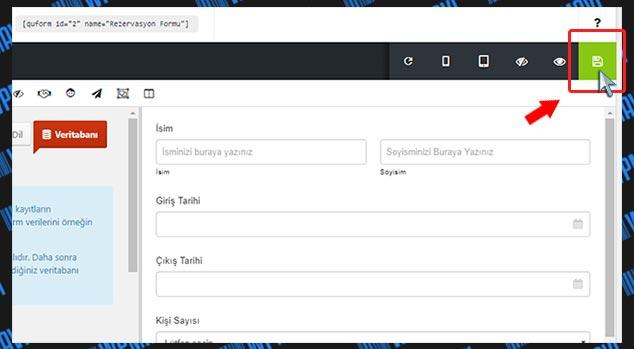 WordPress Form Hazırlama - Formu Kaydetme
