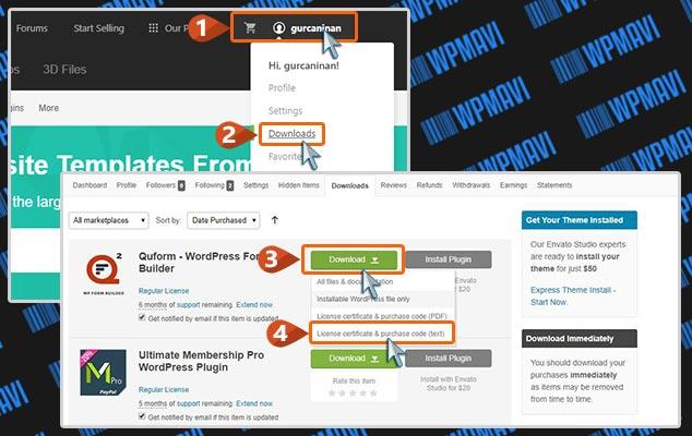 WordPress Forma Hazırlama - Lisans Dosyası İndirme