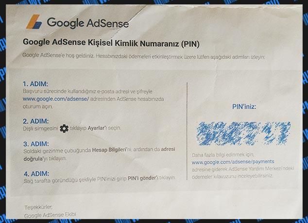 AdSense pin nedir?
