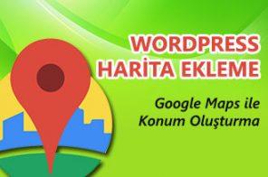 WordPress Harita Ekleme