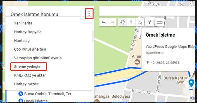 WordPress Harita Ekleme - Siteme Yerleştir