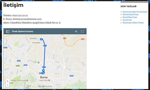 WordPress İletişimSayfasına Harita Ekleme