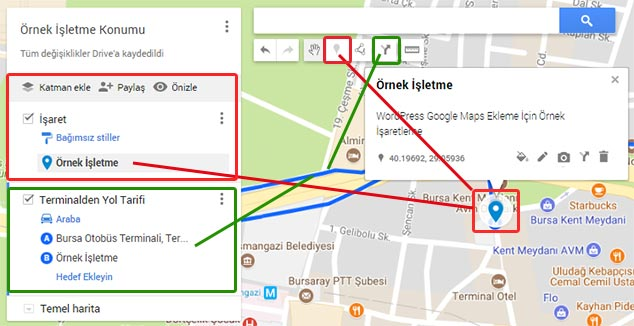 WordPress Konum Ekleme - Harita Düzenleme