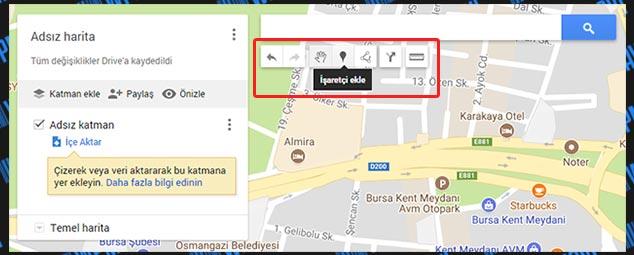 WP Google Maps Ekleme - Harita Araç Çubukları