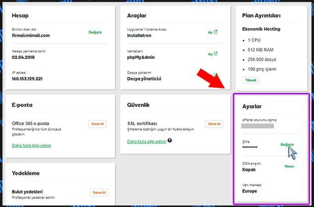 cPanel ve FTP Bilgileri - Netten Makale Yazarak Para Kazanmak