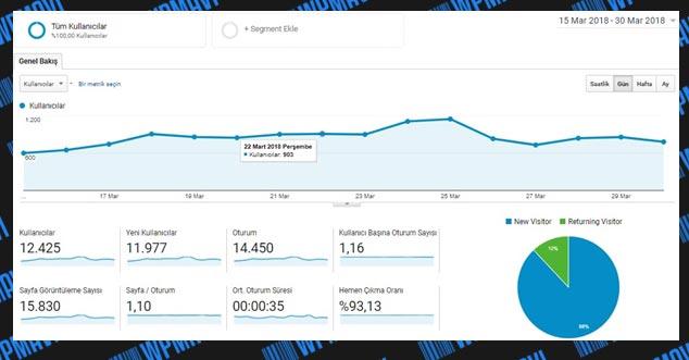 Ziyaretçi İstatistikleri ( Blog Yazarak Nasıl Para Kazanılır )