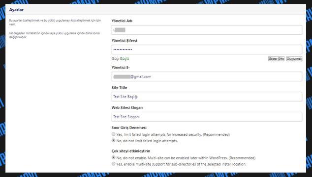 Wordpress site nasıl yapılır - WordPress ile site yapımı - WP Kurulurm Gelişmiş Ayarlar