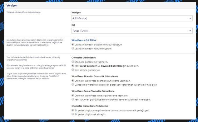wordpress ile site kurmak - wordpress ile web sitesi yapmak - WP Kurulum Ayarları