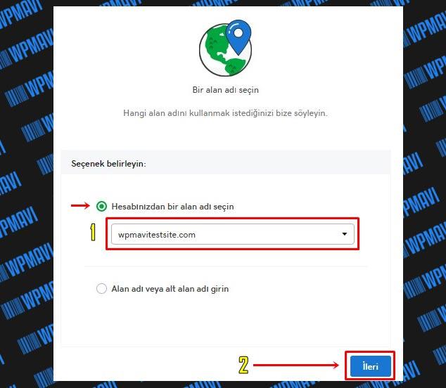 wordpress web sitesi yapma - wordpress site nasıl kurulur - cPanel Kurulum Alan Adı Seçimi