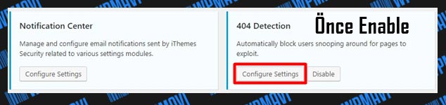 iThemes Security 404 Detection Ayarları