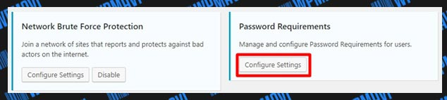iThemes Security Ayarları Password Requirements Ayarları