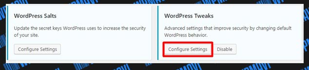 iThemes Security WordPress Tweaks Ayarları