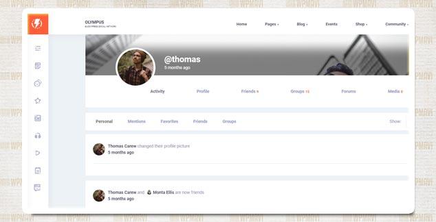 Olympus Arkadaşlık Sitesi WordPress Teması