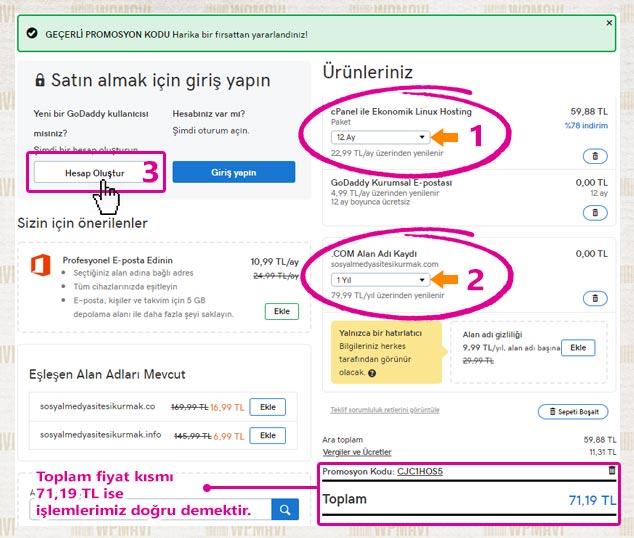 Sosyal Ağ Sitesi Kurma - Hosting ve Domain Fiyat Tablosu