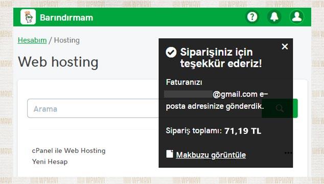 Sosyal İçerik Sitesi Açmak - Ödeme Tamamlandı