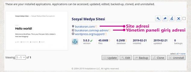 Sosyal Medya Sitesi Nasıl Açılır? - WordPress Kurulumu Tamamlandı