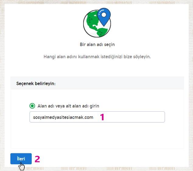 Sosyal Site Kurma İçin Alan Adı Seçimi
