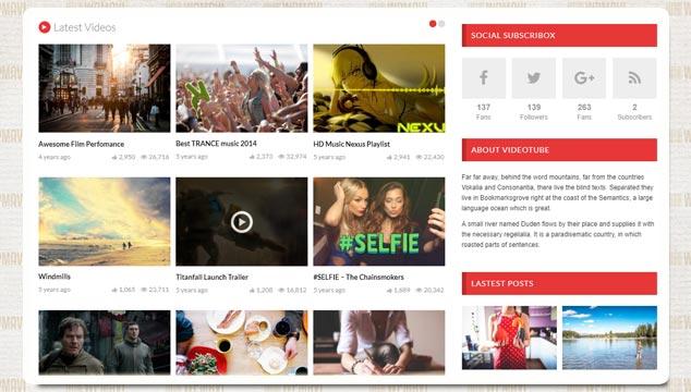 VideoTube Video Paylaşım Sitesi WordPress Teması