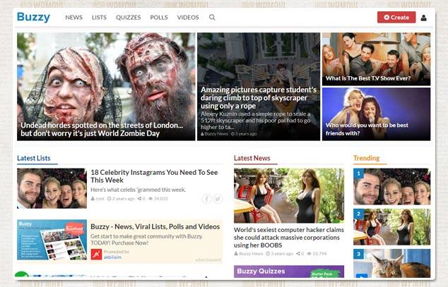 Viral İçerik Sitesi Açmak - Buzzy Bundle Onedio Benzeri Sosyal Paylaşım Sitesi Scripti