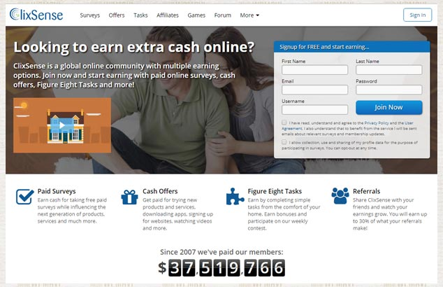 Anket doldurarak Para Kazanma - Paralı Anket Sitesi Clixsense