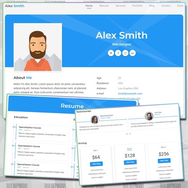 Aveo WordPress Bireysel Web Sitesi Teması