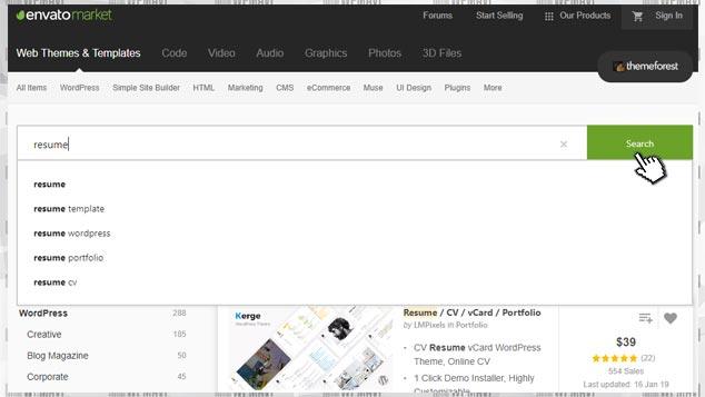 Kişisel Web Sayfası Açmak - WordPress Teması Arama