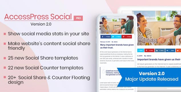 AccessPress Social Pro - WordPress Sosyal Paylaşım Eklentisi
