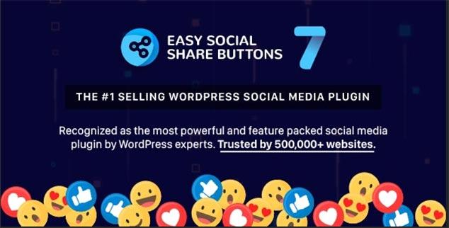 Easy Social Share Buttons WordPress Sosyal Paylaşım Eklentisi