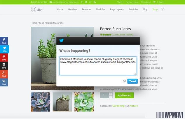 Monarch WordPress Paylaşım Eklentisi Sosyal Medya Butonları