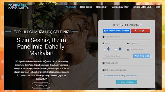 Online Anket Para Kazanma Sitesi - Panel Station