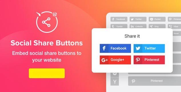 Social Share Buttons - WordPress Sosyal Paylaşım Eklentisi