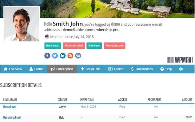 Ultimate Membership Pro - WordPress Üye Profil Sayfası Eklentisi